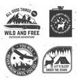set outdoor adventure quotes symbol vector image vector image