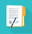 signed paper deal contract icon vector image