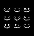 smiling scary faces for halloween vector image