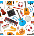 speakers amplifier synthesizer and other music vector image vector image