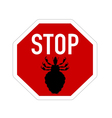 Stop sign for lice vector image vector image