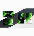 stylish green business card design template set vector image vector image