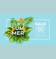summer tropical background with strelitzia flowers vector image