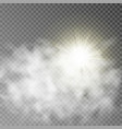 sun and cloud isolate on background vector image vector image