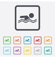 Swimming sign icon Pool swim symbol vector image