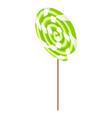swirl lollipop icon isometric style vector image