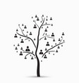 Tree with human vector image vector image