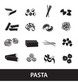 types of pasta food eps10 vector image vector image