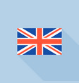 uk flat icon flat design vector image
