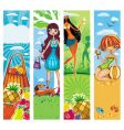 vacation banners vector image vector image