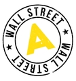 Wall Street stamp vector image vector image