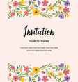 wedding party and anniversary invitation card vector image vector image