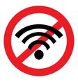 Wi fi icon ban vector image