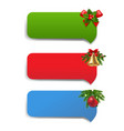 winter banner with christmas toys vector image