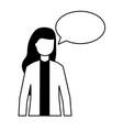 woman speech bubble talk white background vector image vector image