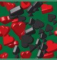 card peaks and hearts seamless pattern vector image