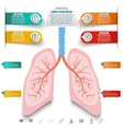 Abstract human lung from dots and lines Set of vector image