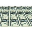 Dollars background vector image