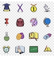 Education set icons vector image
