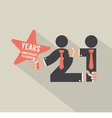 21 Years Anniversary Typography Design vector image vector image