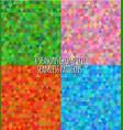 4 seasons geometric seasons patterns vector image vector image