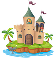 A castle in an island vector image vector image