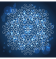 Abstract blue background with a round mandala vector image vector image