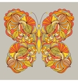 abstract butterfly on gray background vector image