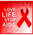 AIDS ribbon poster vector image vector image