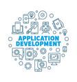 application development round concept vector image