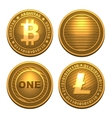 Bitcoin and Litecoin isolated on white vector image vector image