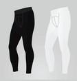 black and white male leggings vector image vector image