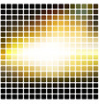 black yellow white rounded mosaic background over vector image vector image