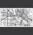 boise usa city map in retro style outline map vector image vector image