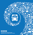 Bus icon sign Nice set of beautiful icons twisted vector image vector image