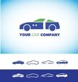 Car shape logo vector image vector image