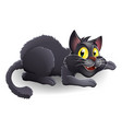 cartoon black cat vector image vector image