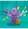 Cartoon Octopus Moster as a Boss vector image