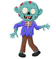 cartoon zombie isolated on white background vector image vector image
