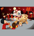 chinese new year celebration vector image vector image