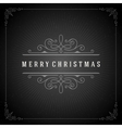 Christmas typography greeting card and flourishes vector image vector image