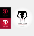 cobra snake logo template vector image