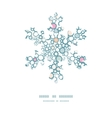colorful bubbles Christmas snowflake silhouette vector image