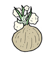 comic cartoon onion vector image