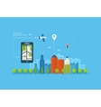 concept of holding smart vector image vector image