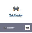 creative game controller logo design flat color vector image
