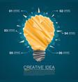 creative idea of origami lamp vector image vector image