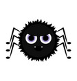 cute halloween spider cartoon character vector image
