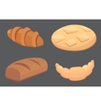 different breads and bakery products vector image vector image