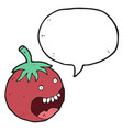 digitally drawn tomato characters and speech vector image vector image